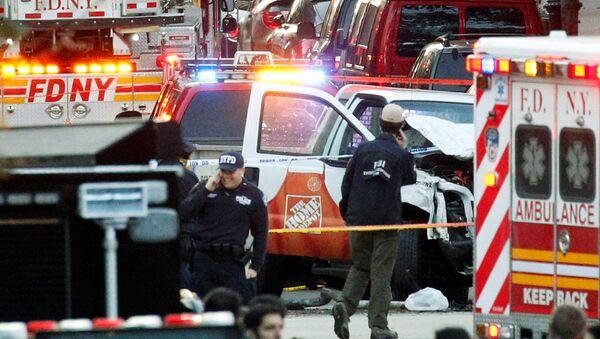 Uviđaj posle napada na Menhetnu, Njujork - Sputnik Srbija