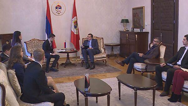 Milorad Dodik sa ruskom delegacijom - Sputnik Srbija