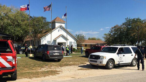 Policija na mestu pucnjave u baptističkoj crkvi u Teksasu - Sputnik Srbija