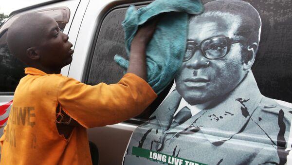 Председник Зимбабвеа Роберт Мугабе  насликан на комбију - Sputnik Србија