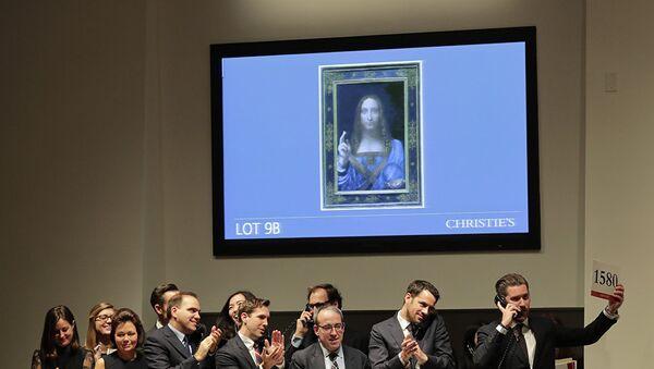 Слика Леонарда Да Винчија Спаситељ мира на аукцији у Њујорку - Sputnik Србија