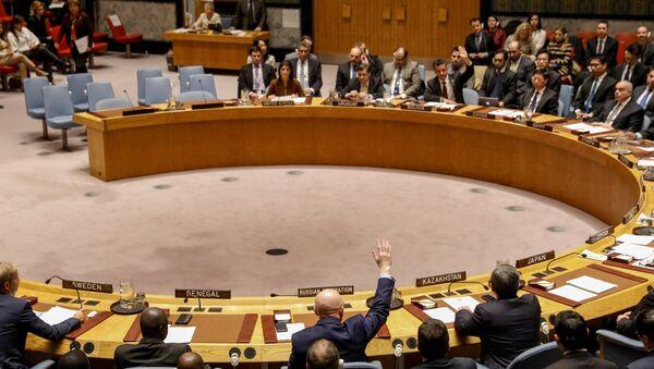 Гласање о нацрту резолуције о Сирији у Савету безбедности у Њујорку - Sputnik Србија
