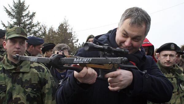 Bivši ministar odbrane Srbije Dragan Šutanovac na vojnim vežbama u Nišu - Sputnik Srbija