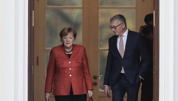 Angela Merkel sa Štefanom Štajnlajnom - Sputnik Srbija