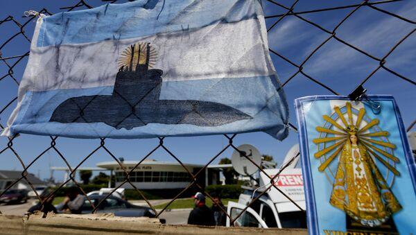Застава Аргентине са цртежом подморнице која је нестала 15. новембра 2017. - Sputnik Србија
