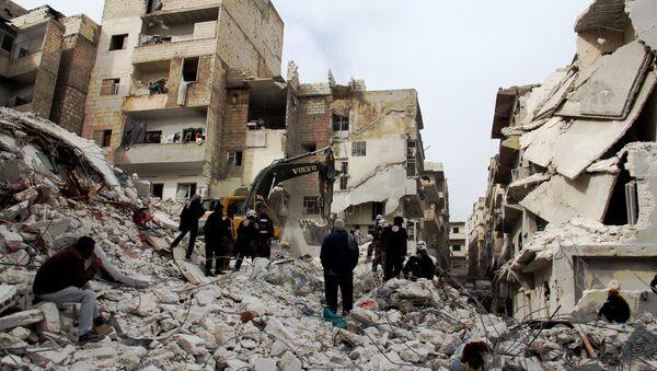 Ruševine u gradu Arihi, Sirija - Sputnik Srbija