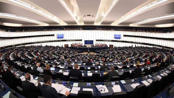 Поглед на салу Европског парламента у Стразбуру - Sputnik Србија