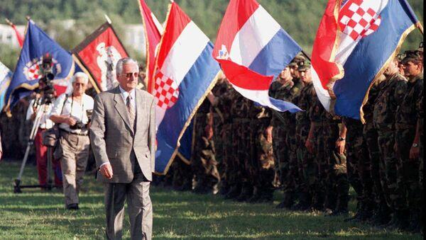 Franjo Tuđman sa vojskom Hrvatske - Sputnik Srbija