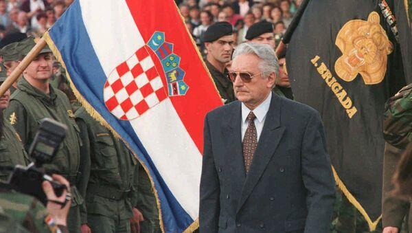 Фрањо Туђман са војском Хрватске - Sputnik Србија