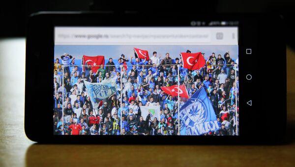 Navijači Novog Pazara sa zastavama Turske - Sputnik Srbija