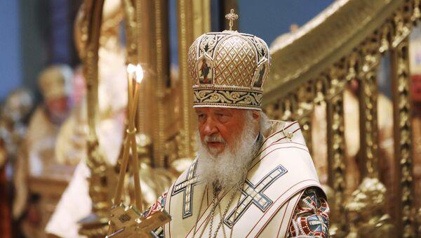 Patrijarh moskovski i cele Rusije Kiril tokom službe - Sputnik Srbija