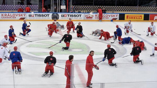 Хокејаши репрезентације Русије током тренинга - Sputnik Србија