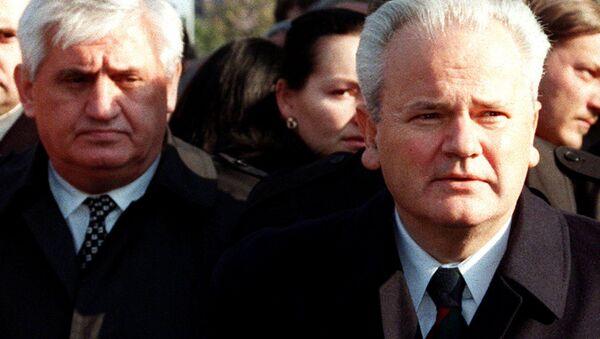 Vlajko Stojiljković i Slobodan Milošević - Sputnik Srbija