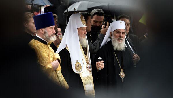 Патријарх Кирил и патријарх Иринеј - Sputnik Србија
