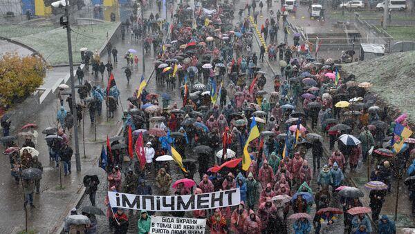 Марш у Кијеву против за импичмент Петра Порошенка - Sputnik Србија