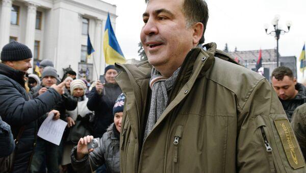 Bivši predsednik Gruzije Mihail Sakašvili na mitingu u Kijevu - Sputnik Srbija