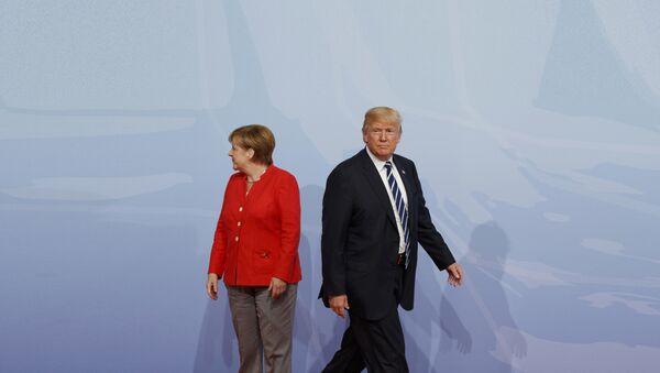 Angela Merkel i Donald Tramp - Sputnik Srbija
