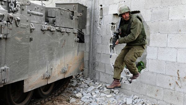 Израелски војник у појасу Газе - Sputnik Србија