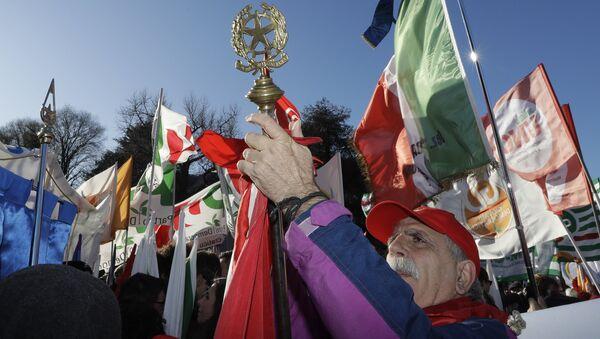 Протест италијанске Демократске партије у граду Комо - Sputnik Србија