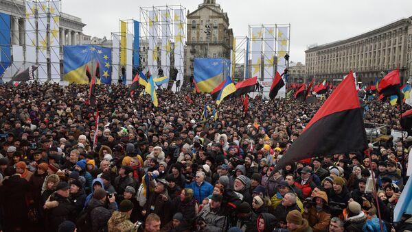 Протести у Кијеву присталица Сакашвилија - Sputnik Србија