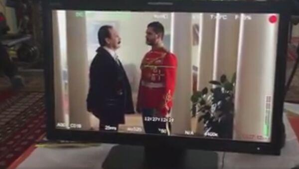 Scena sa snimanja dokumentarno-igranog filma Zvezda i smrt grofa Vronskog. Srpski gambit. - Sputnik Srbija