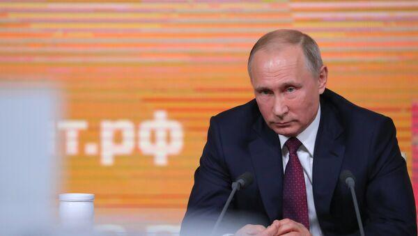 Годишња прес-конференција руског председника Владимира Путина - Sputnik Србија