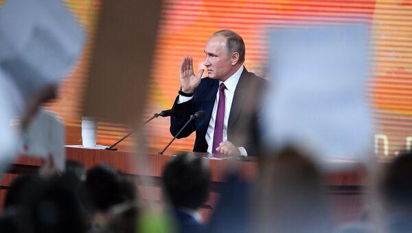 Godišnja pres-konferencija ruskog predsednika Vladimira Putina - Sputnik Srbija