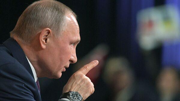 Председник Русије Владимир Путин на годишњој конференцији за медије у Москви - Sputnik Србија