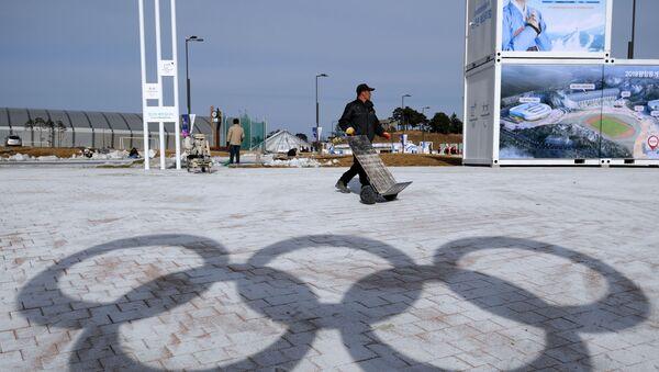Senka olimpijskih krugova u Pjongčangu, gde će 2018. biti održane ZOI - Sputnik Srbija