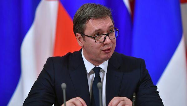 Председник Србије Александар Вучић у Кремљу - Sputnik Србија
