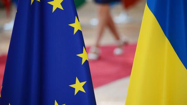 Заставе ЕУ и Украјине - Sputnik Србија
