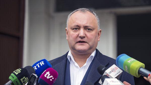 Председник Молдавије Игор Додон - Sputnik Србија
