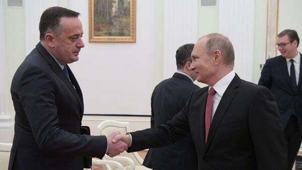 Ministar energetike u Srbije Aleksandar Antić i predsednik Rusije Vladimir Putin - Sputnik Srbija