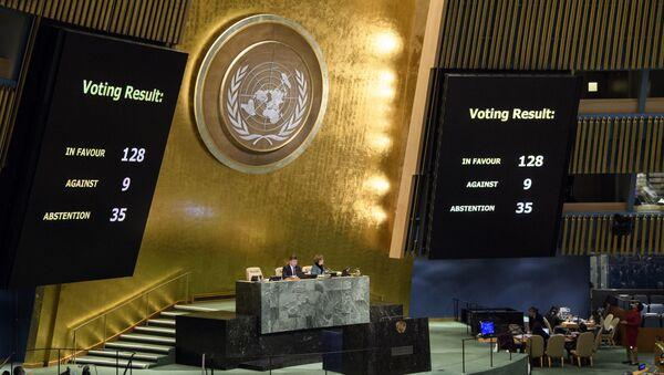 Резултати гласања Генералне скупштине УН о статусу Јеруалима - Sputnik Србија