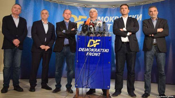 Konferencija za novinare Demokratskog fronta - Sputnik Srbija