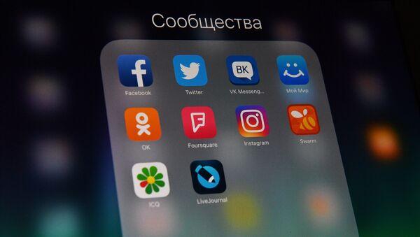 Иконе друштвених мрежа на екрану смартфона - Sputnik Србија