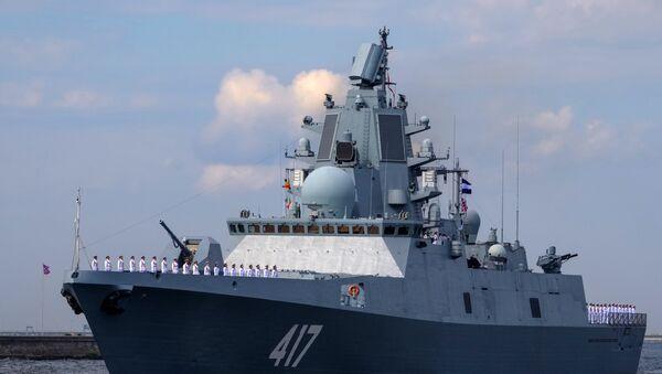 Fregata Admiral Gorškov na probi vojne parade u Konštatu - Sputnik Srbija