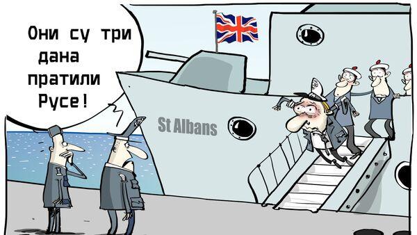Britanska fregata pratila ruski brod u Severnom moru - Sputnik Srbija