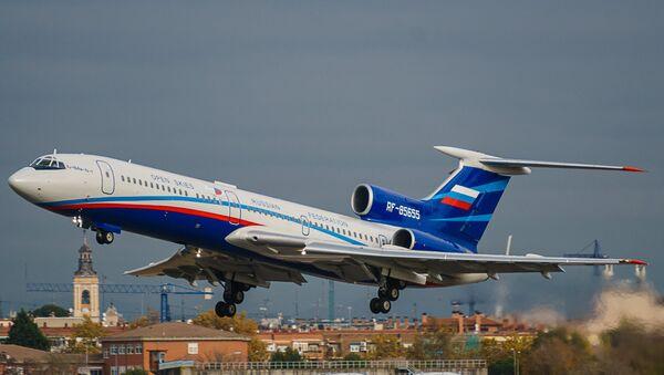 Ruski izviđački avion Tu-154NM-LK1 tokom leta iznad Španije u okviru Sporazuma o otvorenom nebu - Sputnik Srbija
