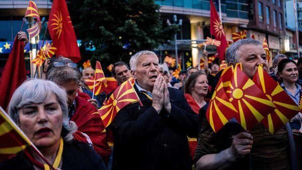 Народ на улицама Скопља - Sputnik Србија