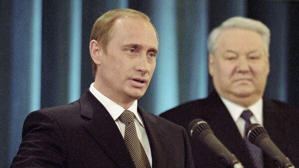 Vladimir Putin i Boris Jeljcin - Sputnik Srbija