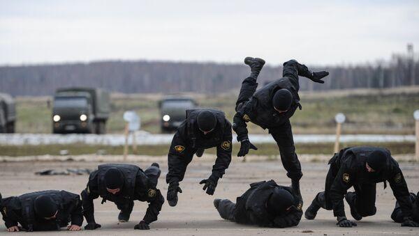 Показна вежба технике и борбене готовости одреда за специјалне намене Витез Министарства унутрашњих послова Русије - Sputnik Србија
