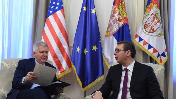 Кајл Скот и Александар Вучић - Sputnik Србија