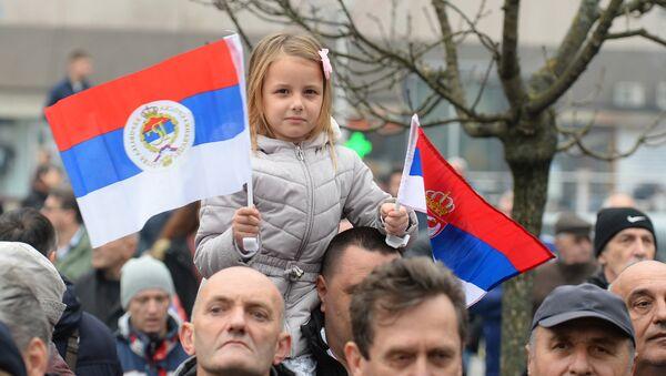 Devojčica na proslavi Dana Republike Srpske u Banjaluci. - Sputnik Srbija
