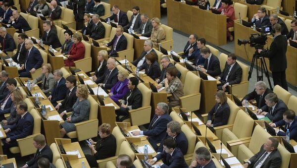 Посланици на заседању Државне думе Русије - Sputnik Србија