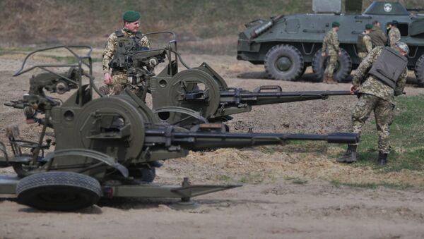 Војне вежбе украјинске војске код Лавова - Sputnik Србија