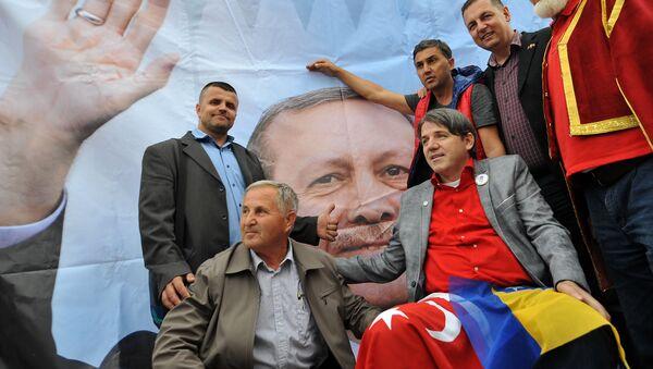 Портрет Реџепа Тајипа Ердогана у Сарајеву - Sputnik Србија
