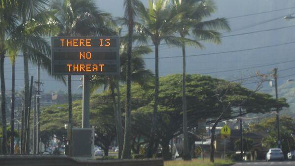 Obaveštenje da ne postoji pretnja od raketnog napada nakon lažne uzbune na Havajima - Sputnik Srbija