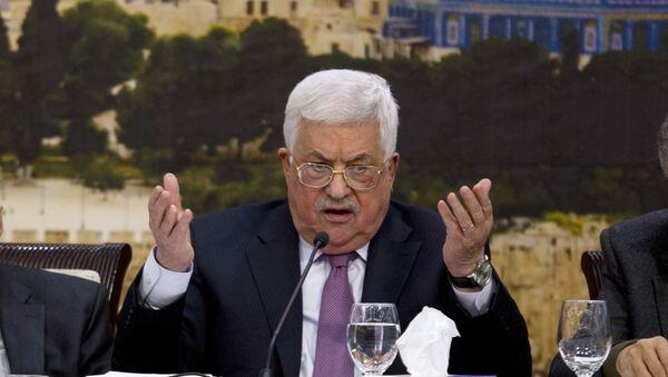 Палестински председник Махмуд Абас говори на заседању Централног савета Палестине у Рамалаху - Sputnik Србија