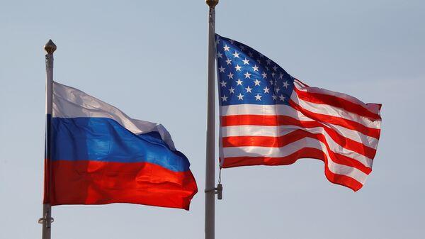 Zastave Rusije i SAD - Sputnik Srbija